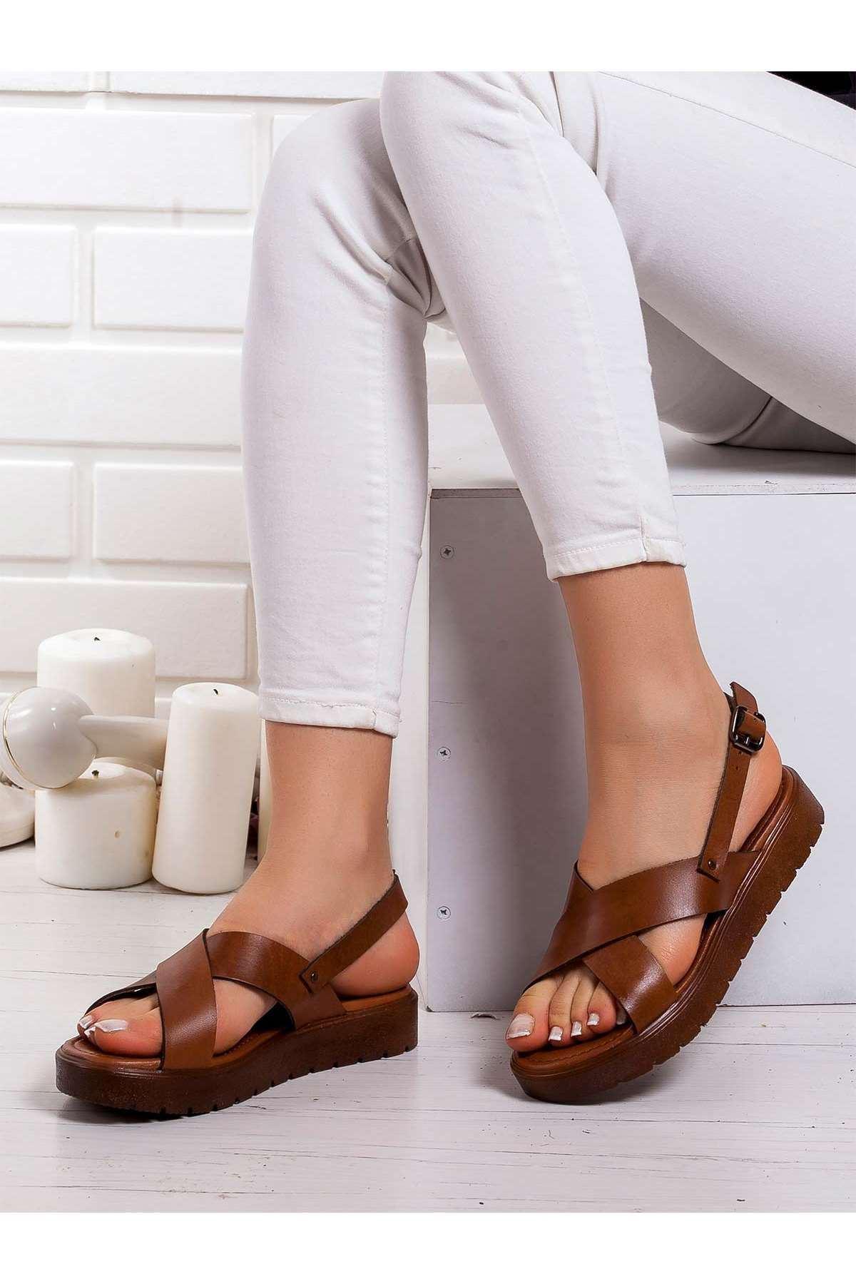 Cara Hakiki Deri Sandalet TABA