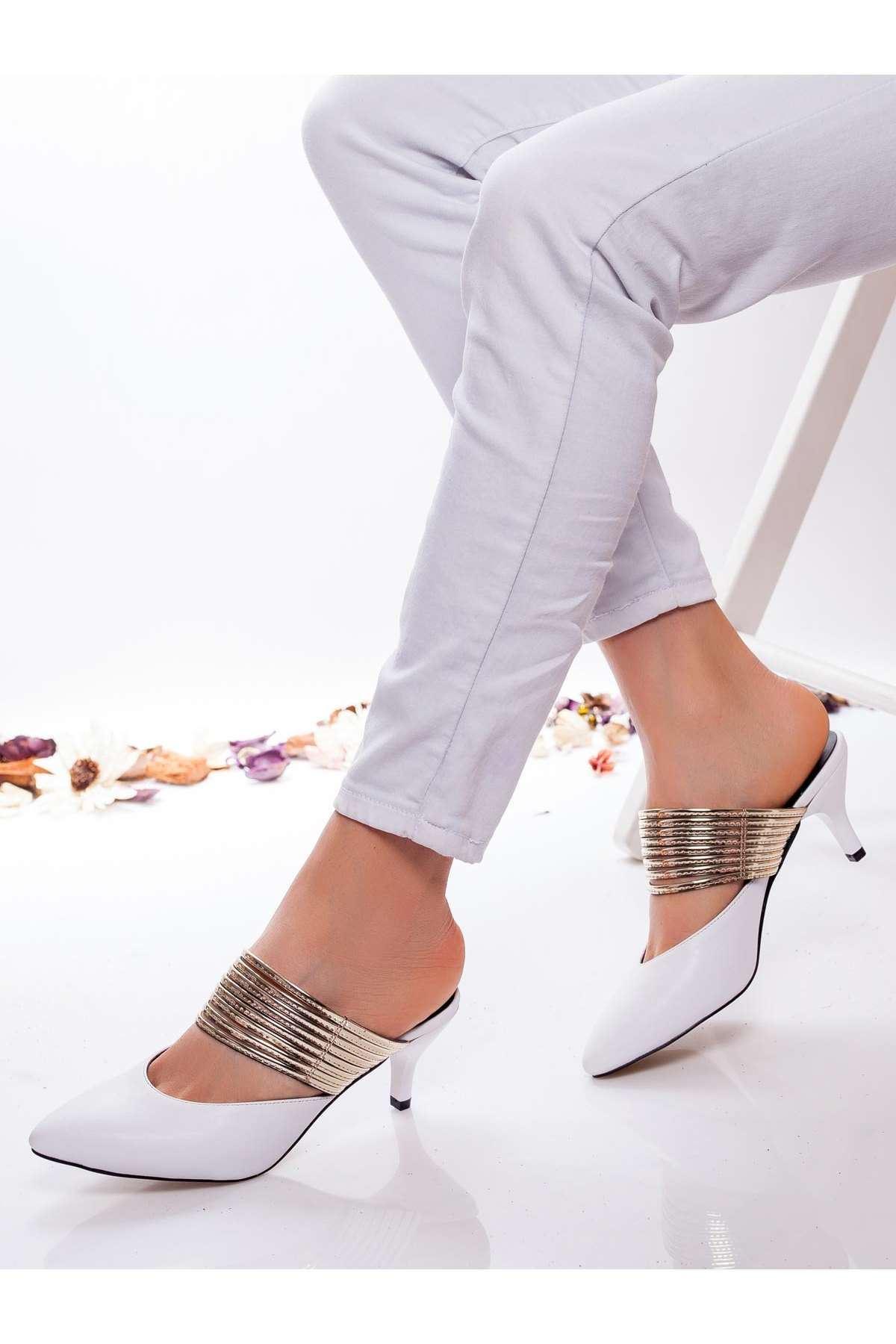Alegra Topuklu Ayakkabı BEYAZ