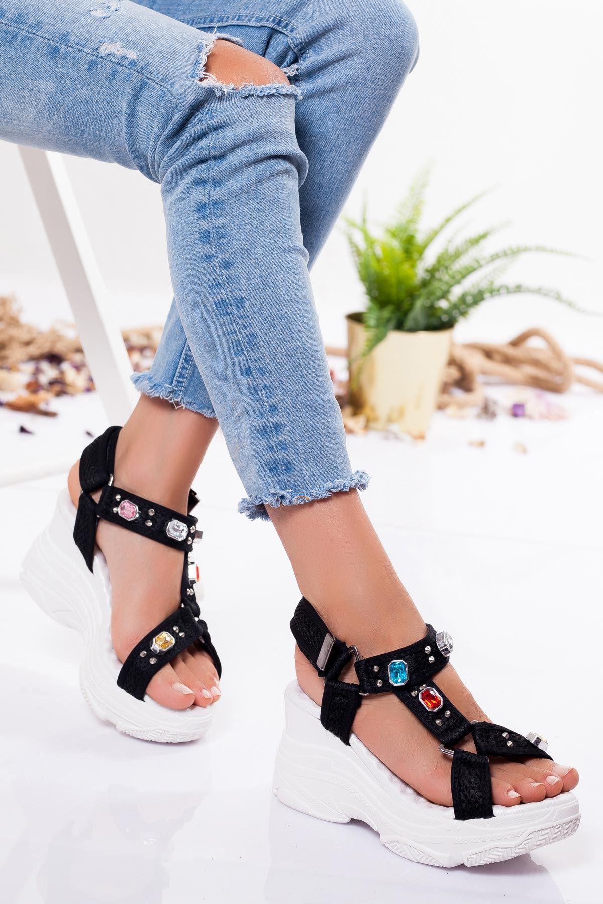 Acnes Sandalet SIYAH
