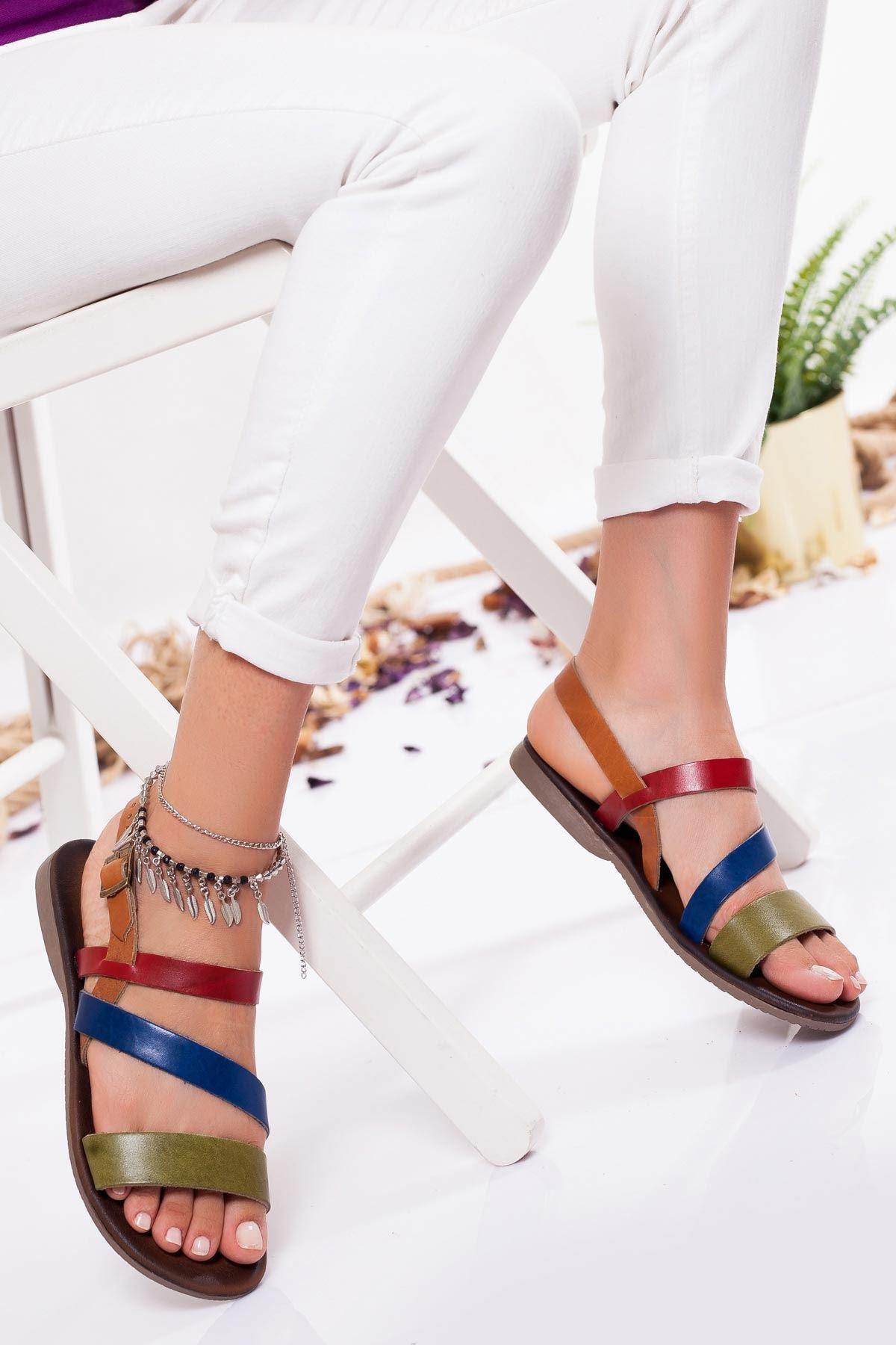 Heidi Hakiki Deri Sandalet MIX3