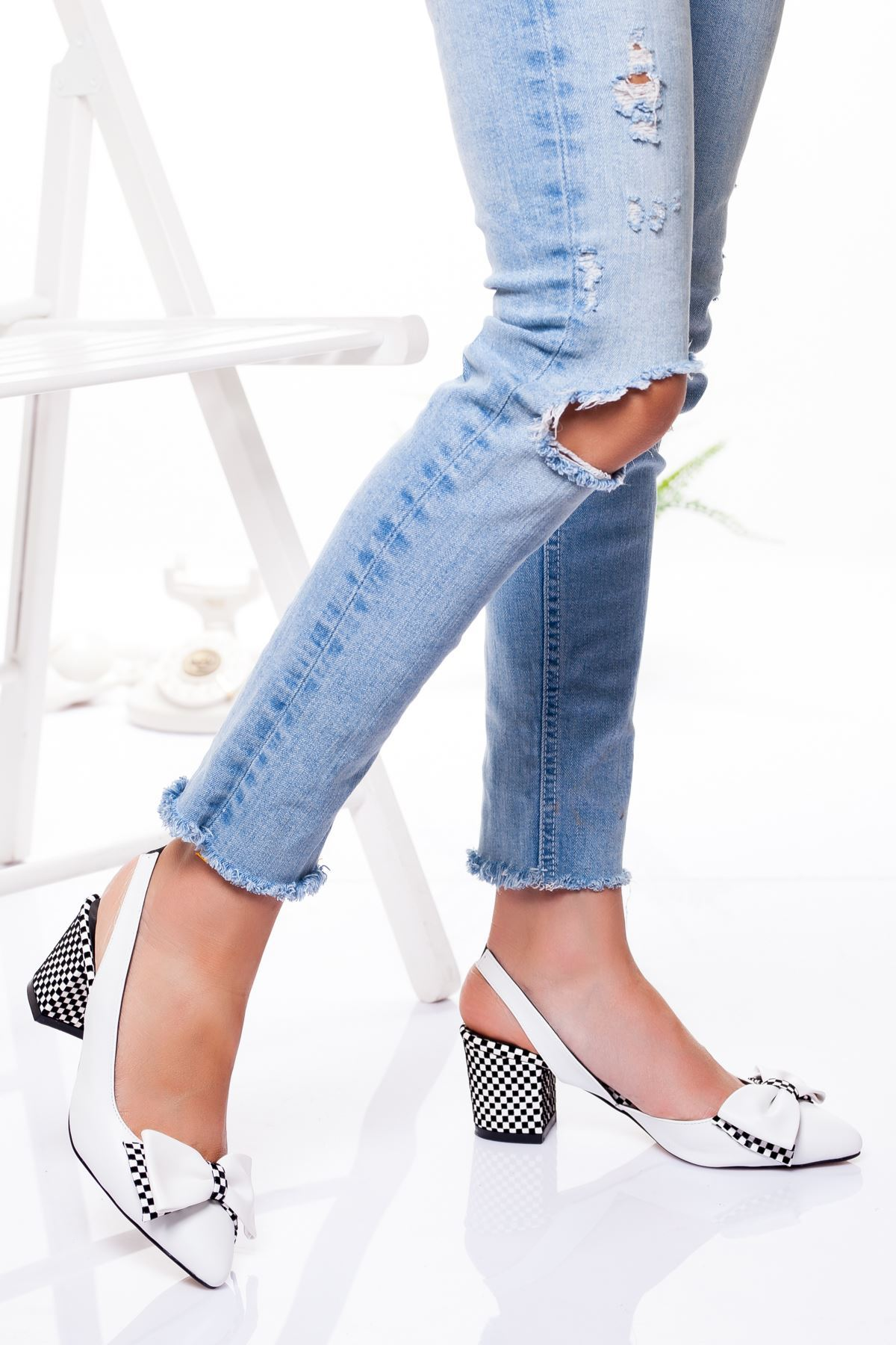 Chano Topuklu Ayakkabı BEYAZ