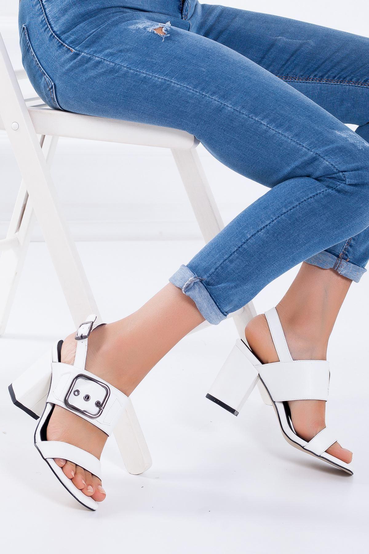 Dina Topuklu Ayakkabı BEYAZ