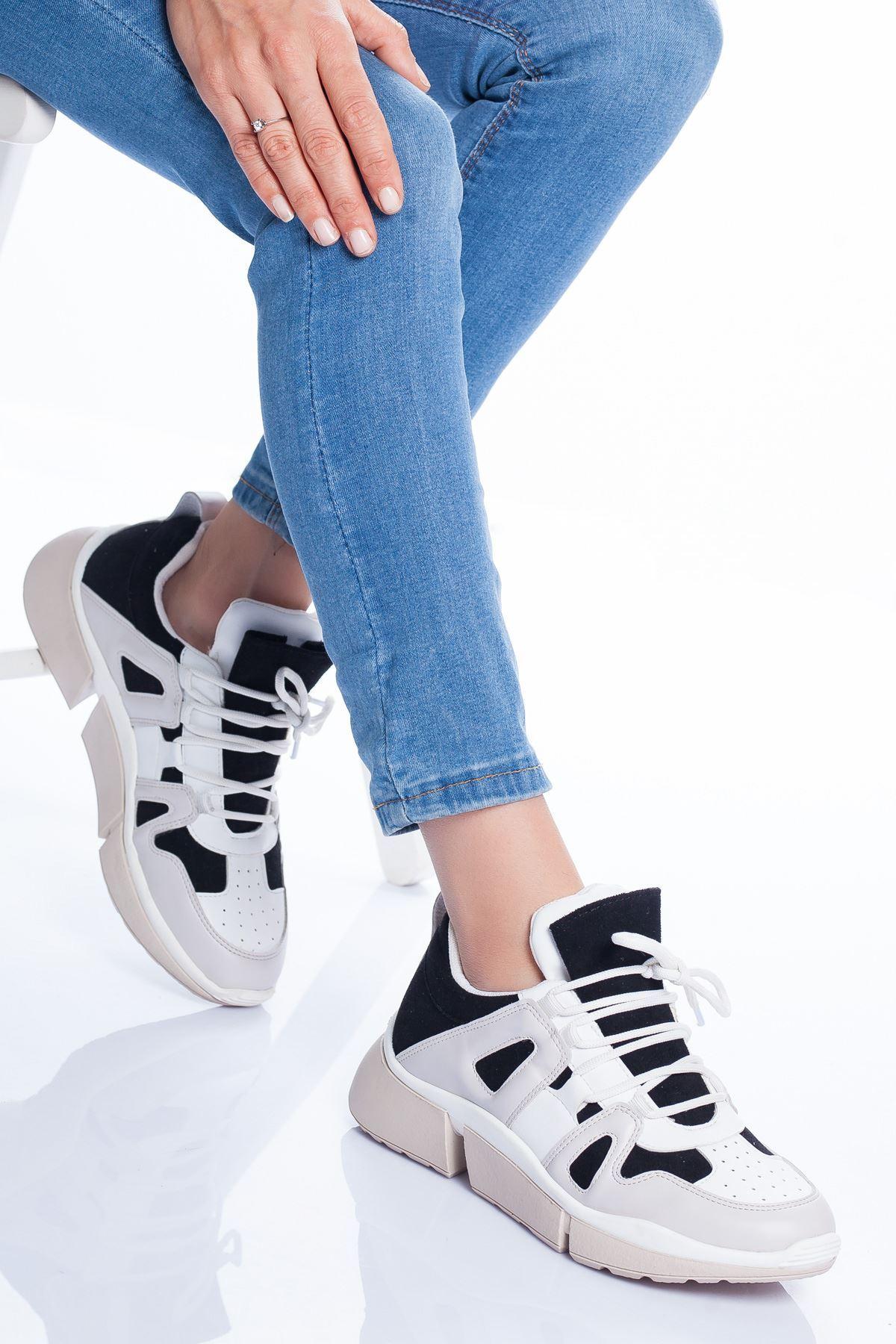 Toni Spor Ayakkabı SİYAH-BEYAZ