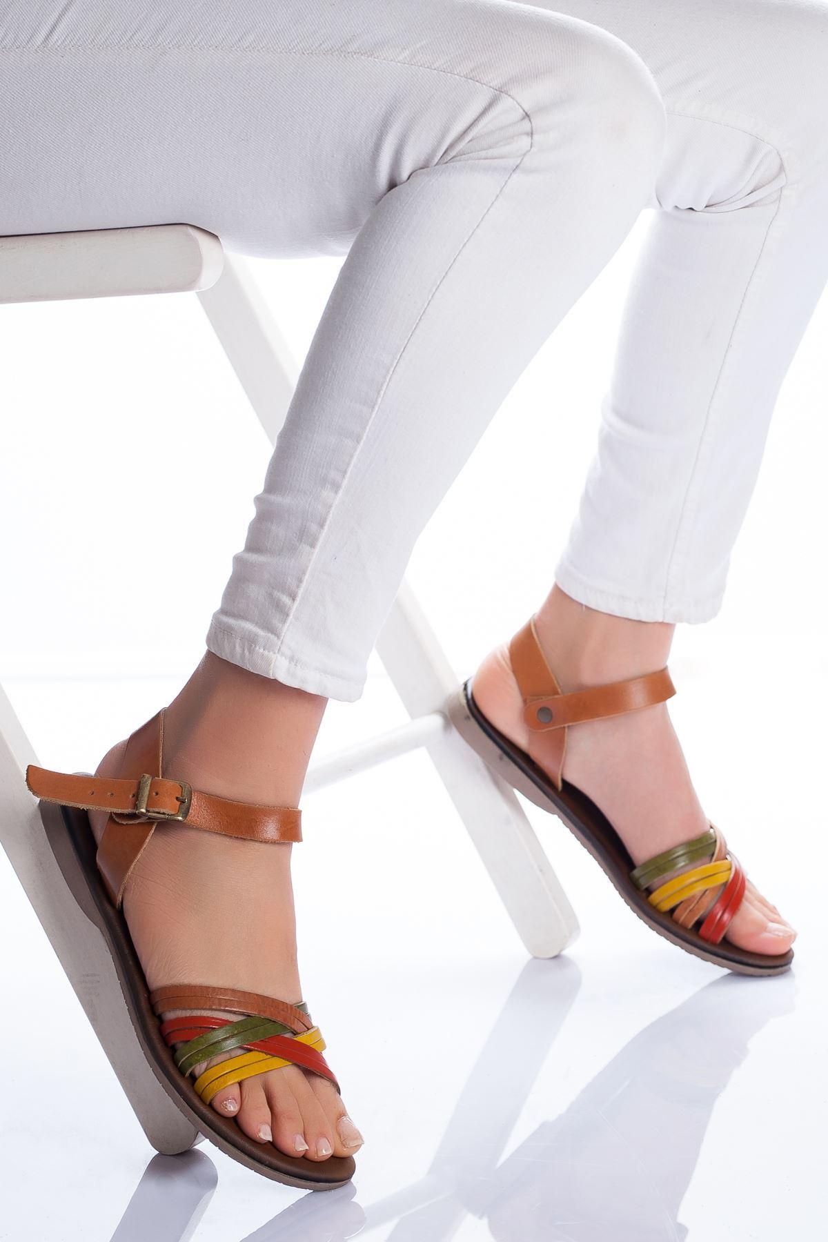 Dorel Hakiki Deri Sandalet MİX