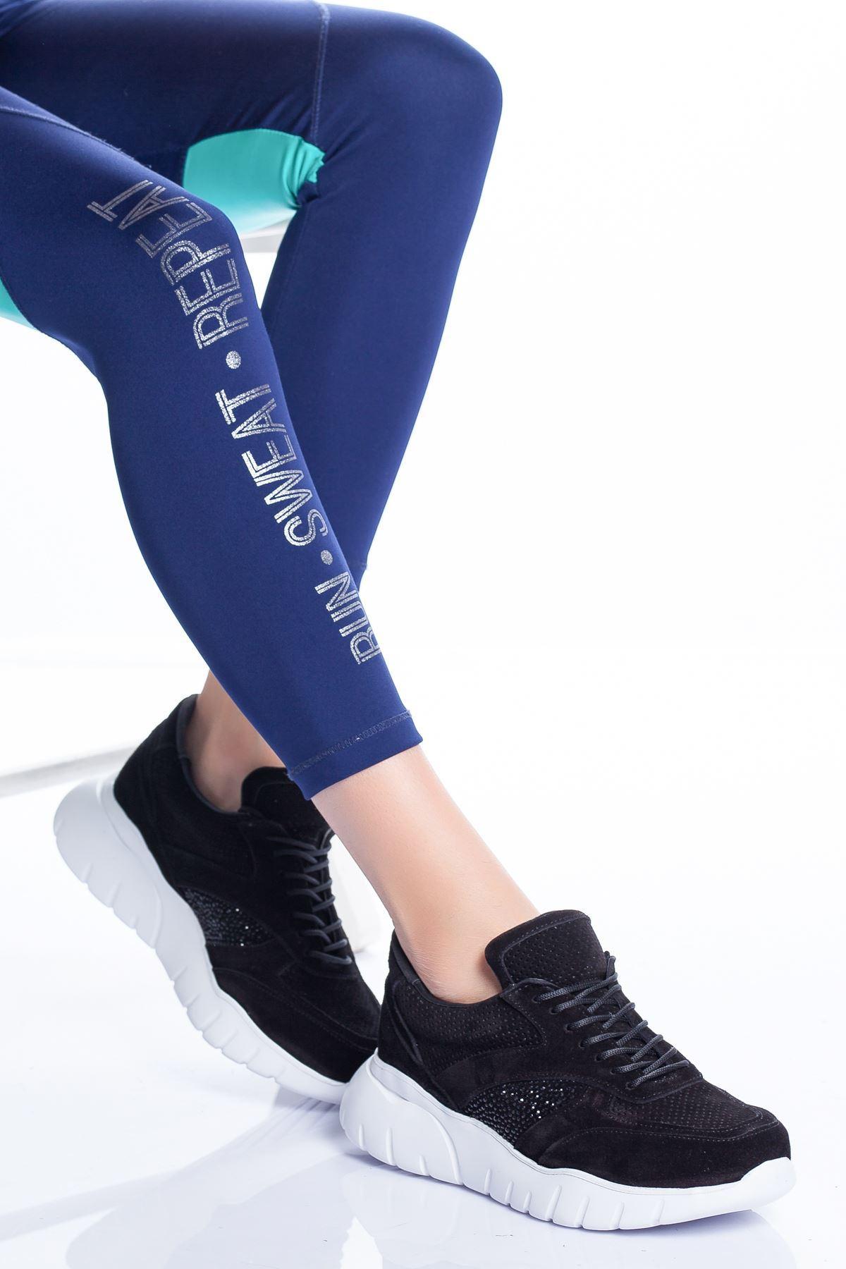 Lole Spor Ayakkabı SİYAH SÜET