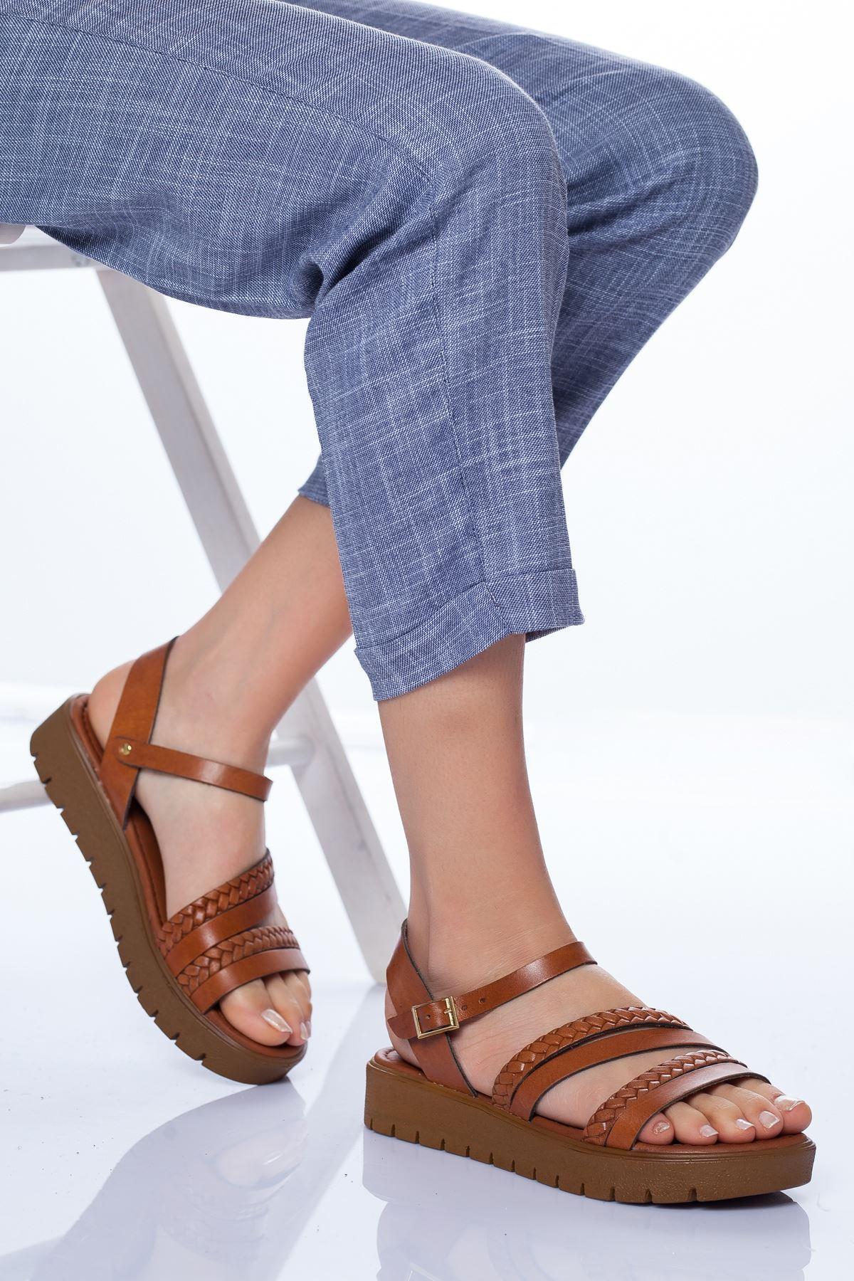 Coretta Deri Sandalet TABA