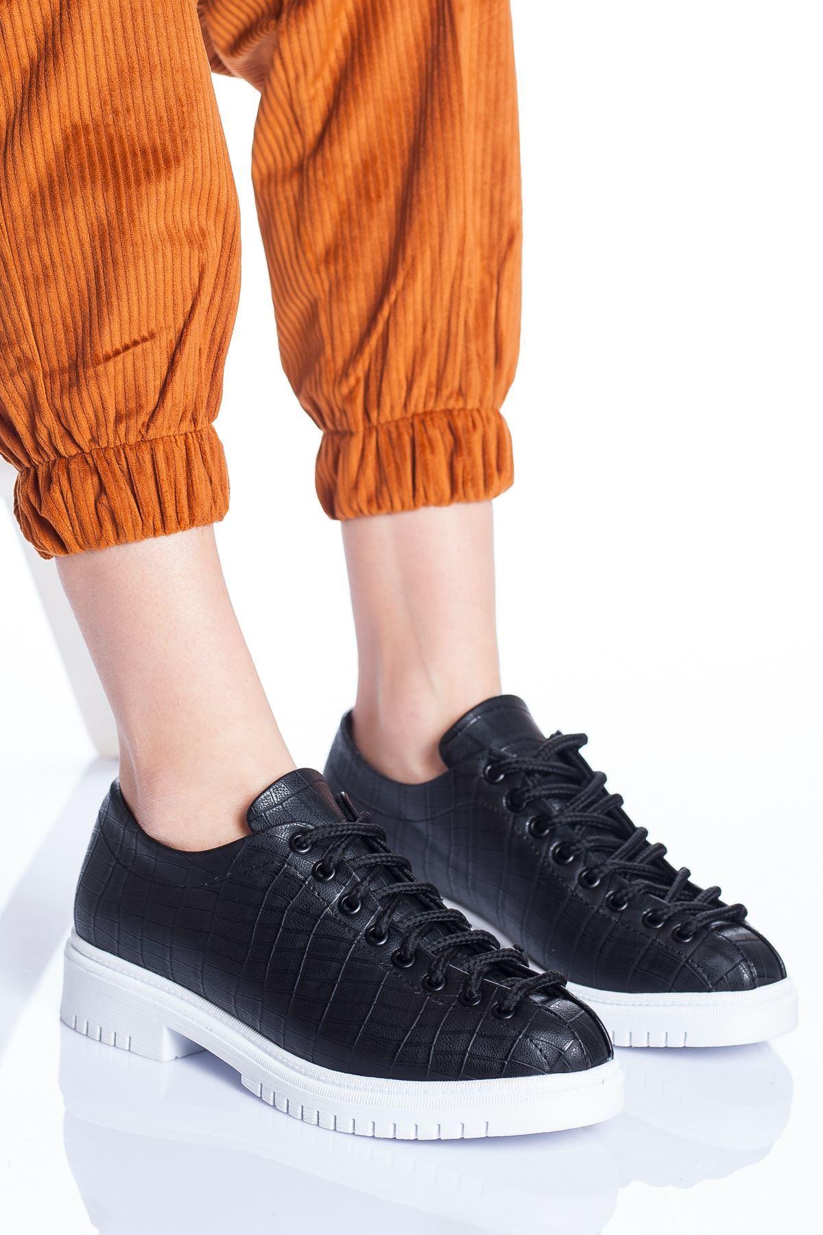 Tamara Ayakkabı SİYAH CROC