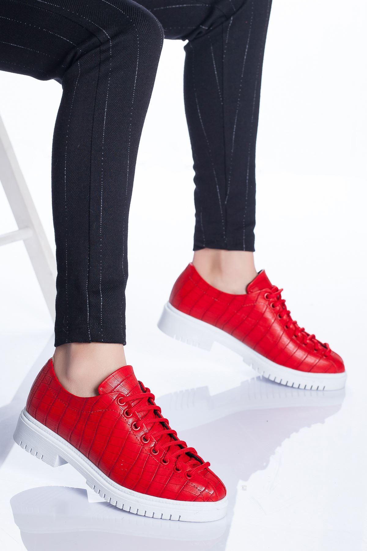 Tamara Ayakkabı KIRMIZI CROC