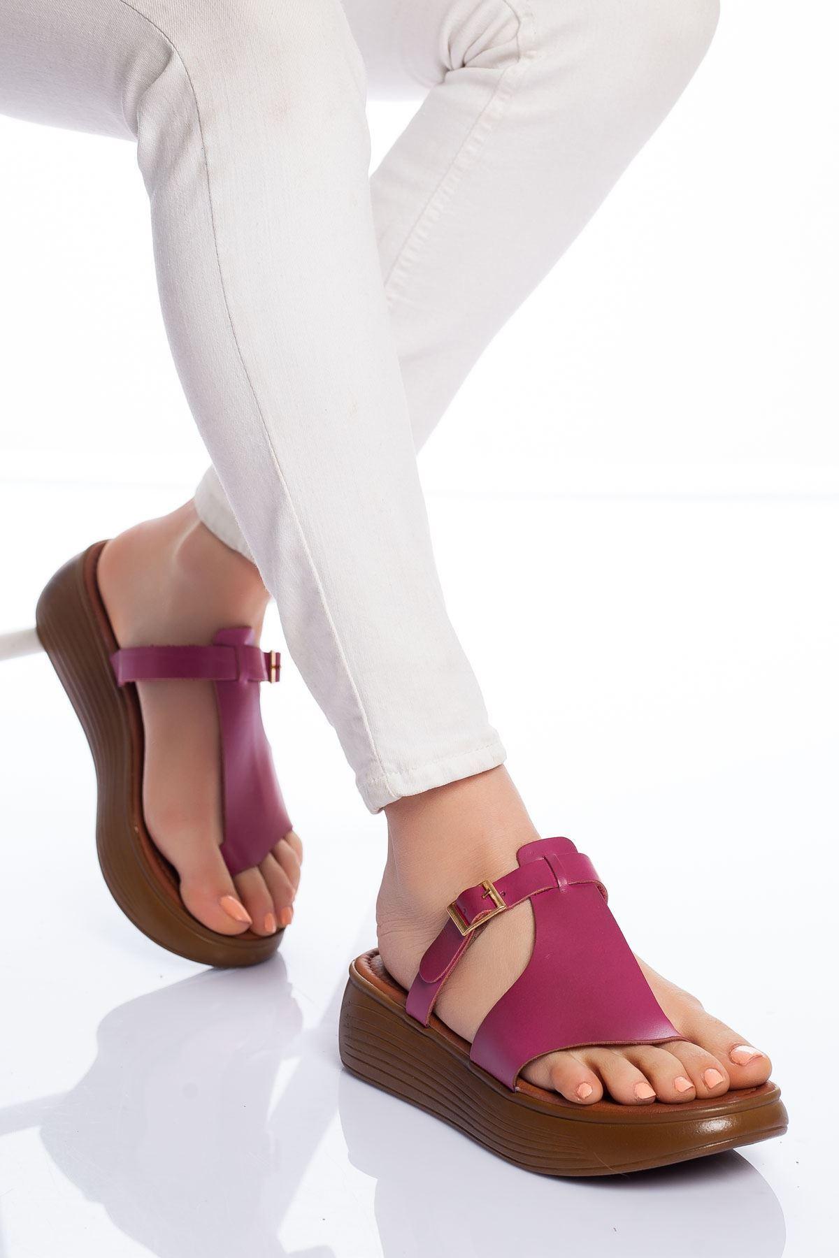 Cora Hakiki Deri Sandalet FUJYA