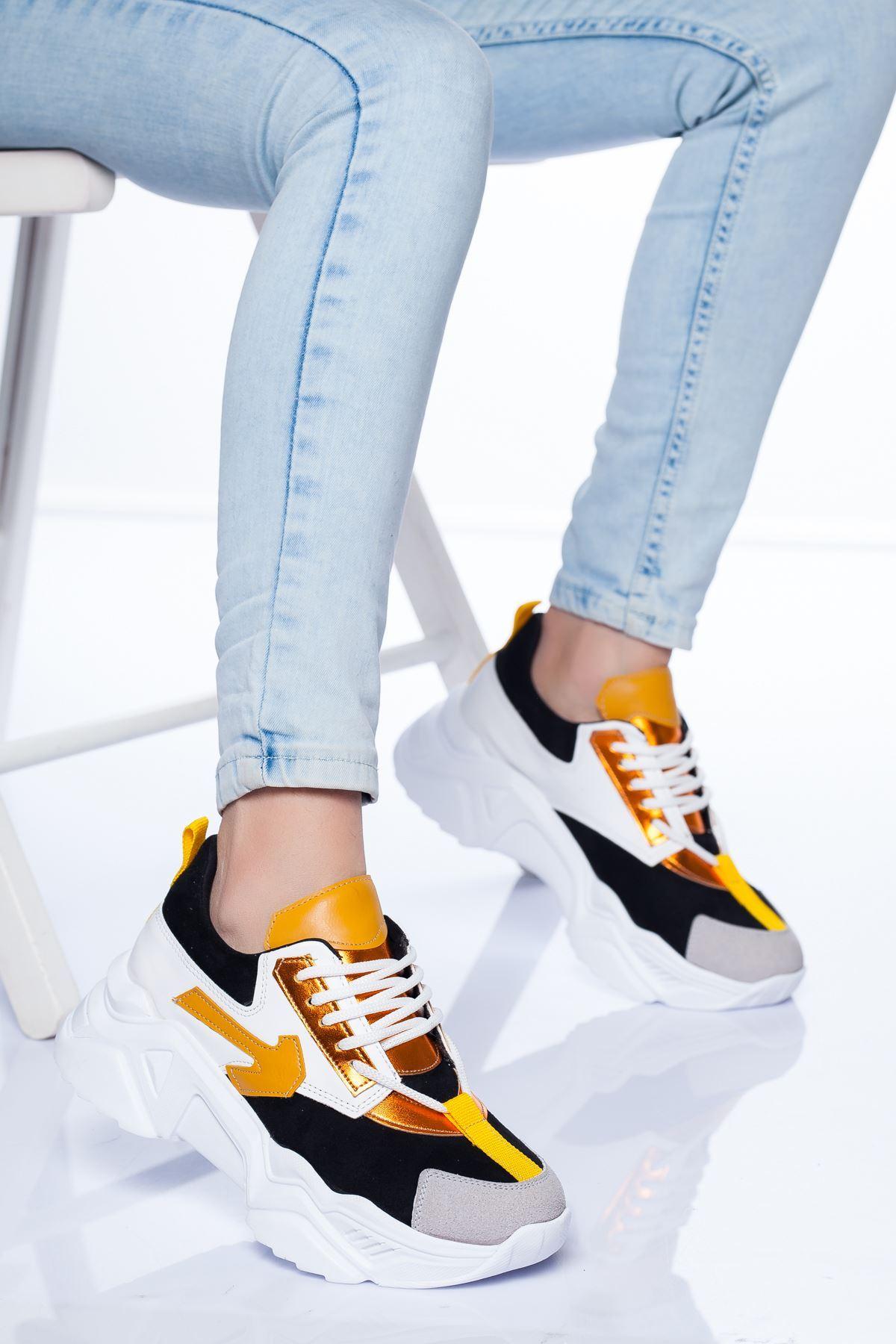 Marvin Spor Ayakkabı SİYAH SARI