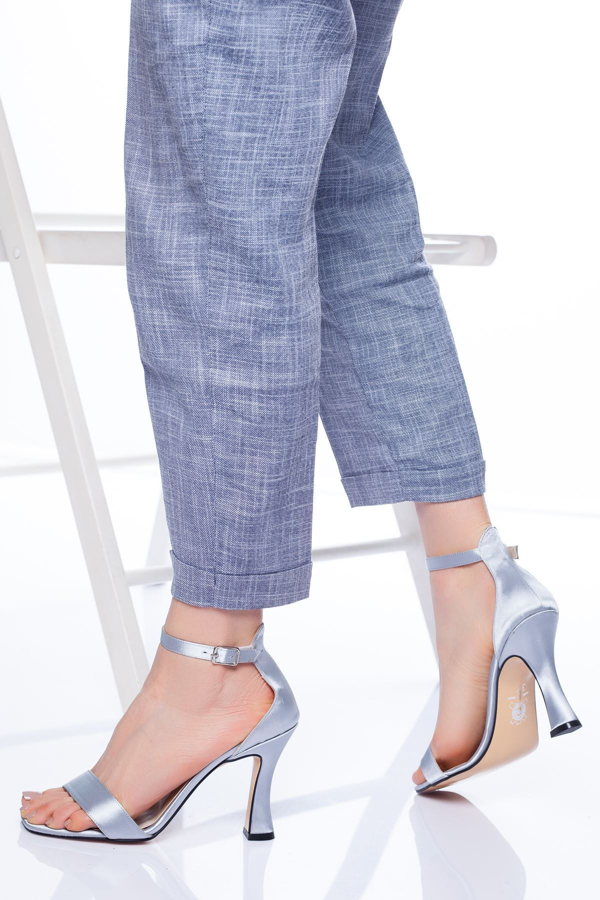 Freda Topuklu Ayakkabı GRİ