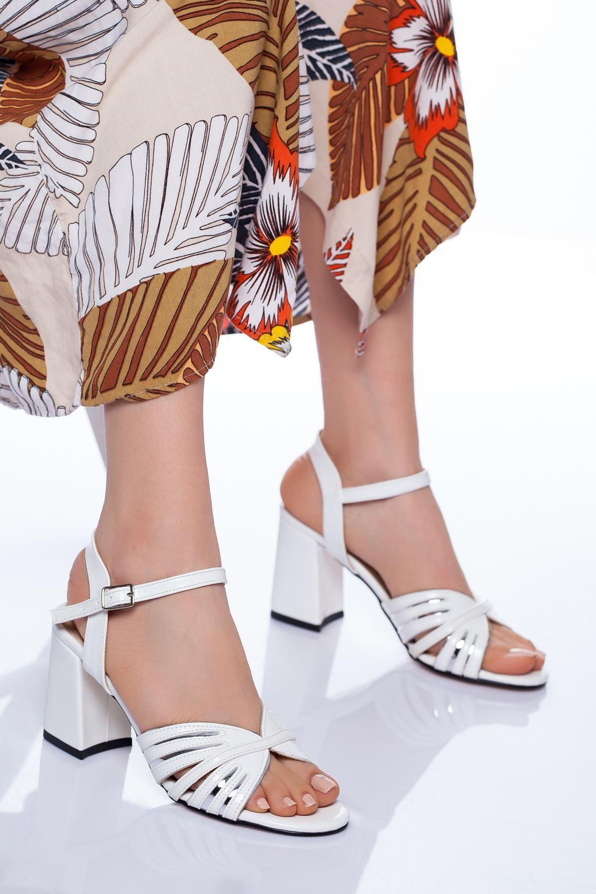 Princess Topuklu Ayakkabı BEYAZ RUGAN