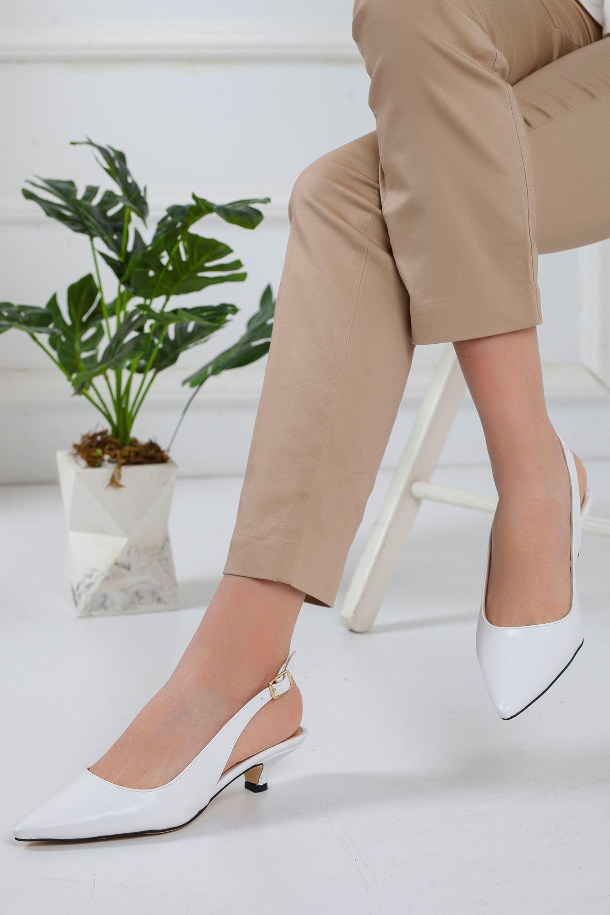 Mira Topuklu Ayakkabı BEYAZ