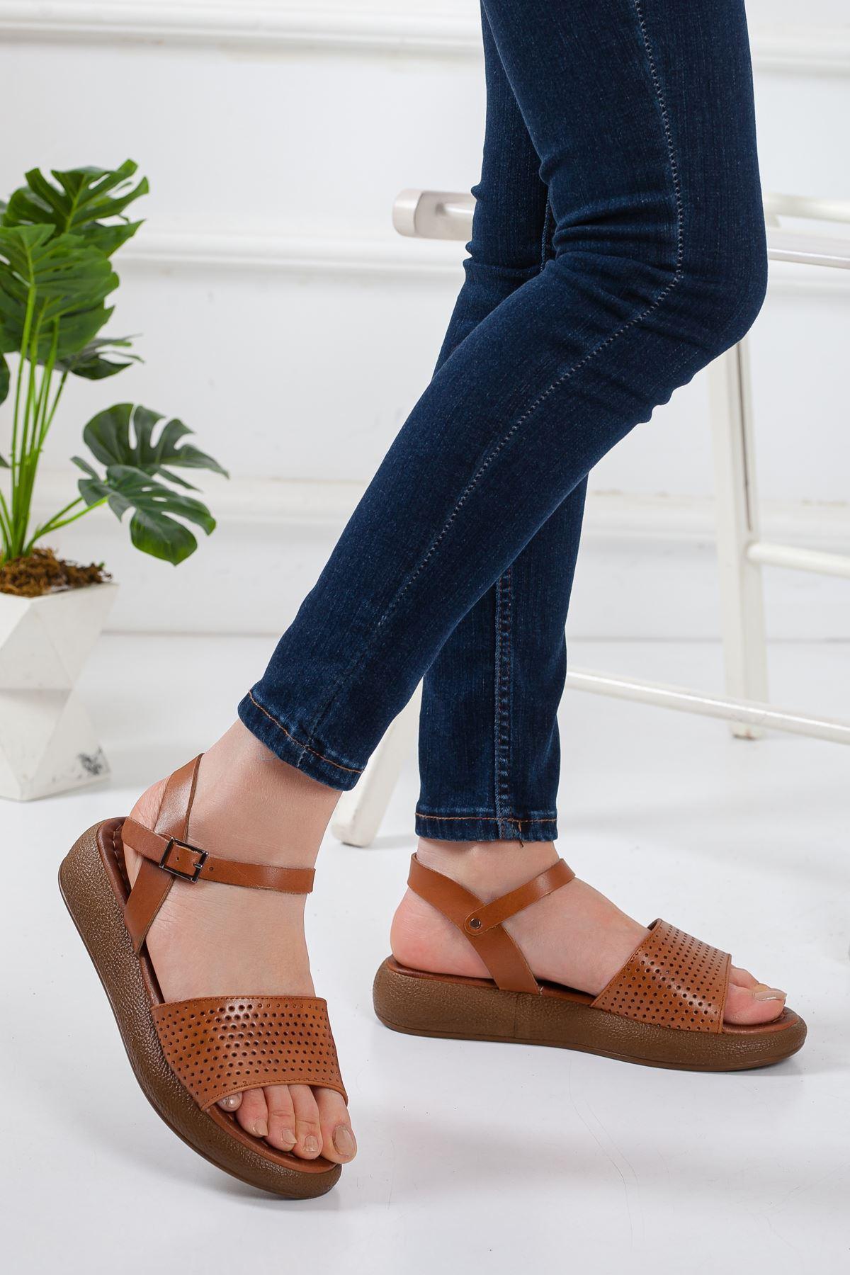 Rain Deri Sandalet TABA