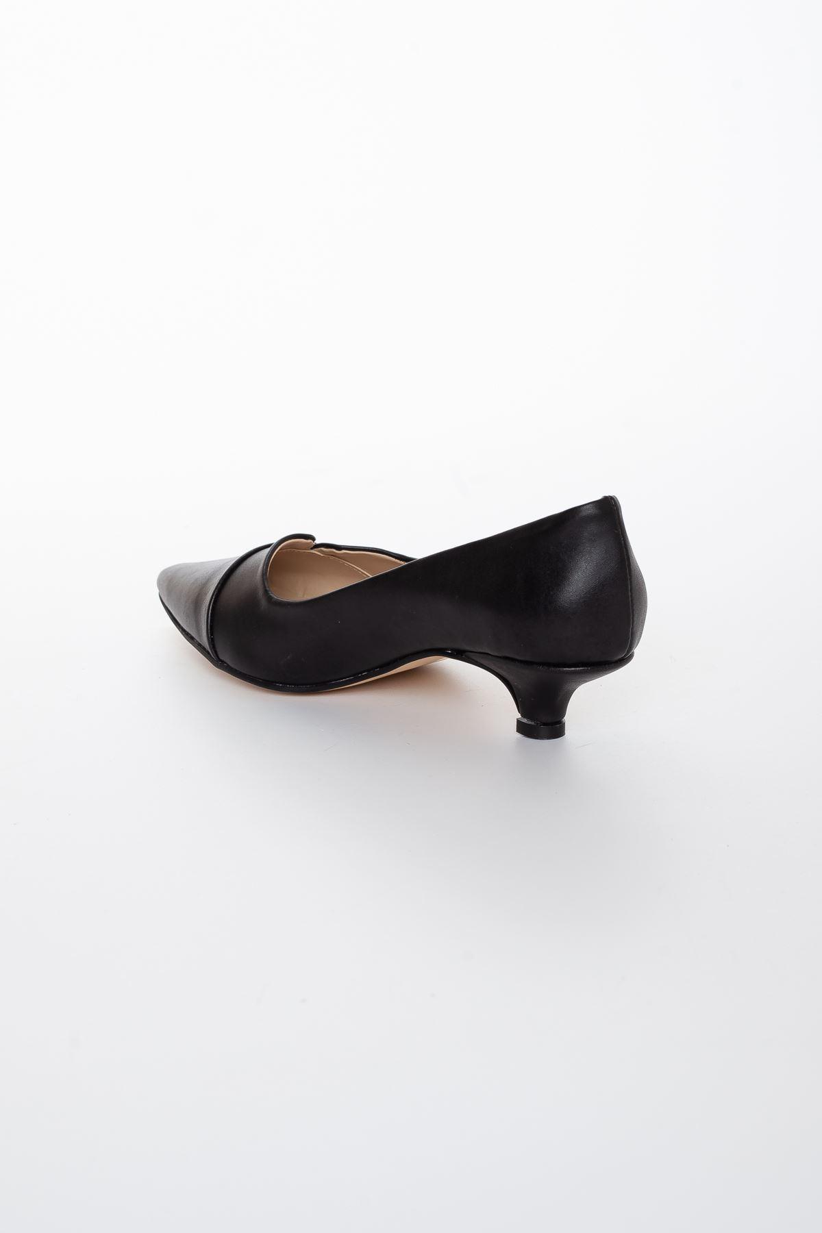 Maksi Topuklu Ayakkabı SİYAH CİLT
