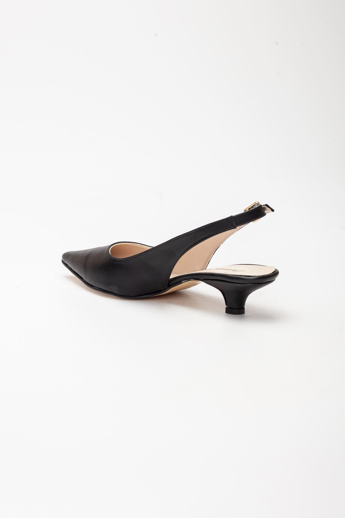Mira Topuklu Ayakkabı SİYAH CİLT